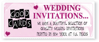 For your Wedding Invitations go to Good Cards in Simpson Bay